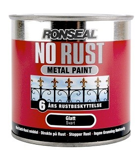 NO RUST HAMRET FINISH – Mørk grå  250 ml
